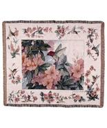 50x60 HUMMINGBIRD Floral Tapestry Throw Afghan Blanket - $45.00