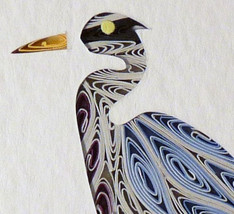 Tiny Quilled Heron - $55.00