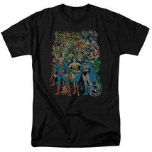 Justice league t shirt dc comic book super friends hero cartoon black tee dco373 thumb200