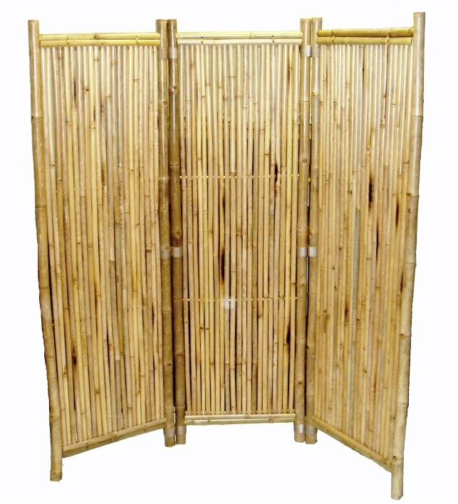 bamboo indoor outdoor screen room divider sturdy and