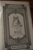 """Pattern BHD 738 Two Antique Doll Dresses 21"""", 14"""" doll clothes - $9.99"""