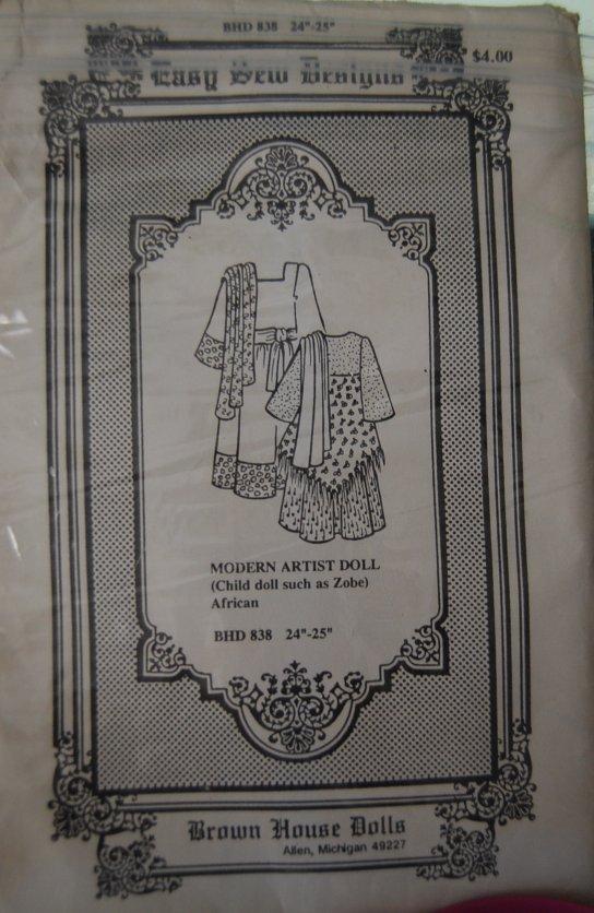 Bhd 838  african doll dress