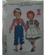 Pattern 7223 Child's Raggedy Ann, Andy Costume 6-8 (used) - $6.99