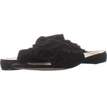 Nine West Ivarene Ruched Slide Sandals, Black/Black 009, Black/Black, 6.5 US - $26.20