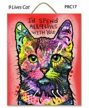 Dean Russo Plaques Nine Lives Chat Brooklyn Base Parfait Cadeau Complet - $25.66 CAD