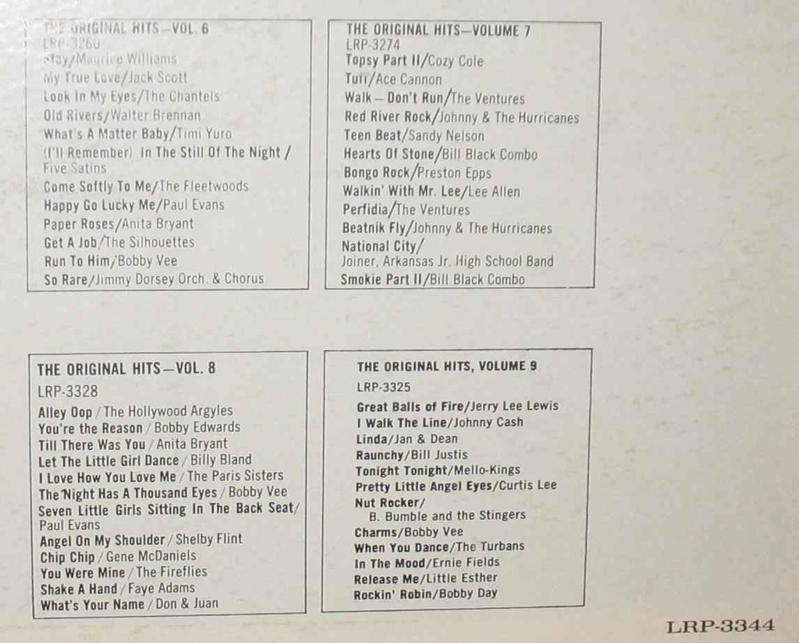 15 Number 1 Hits The Original Hits Vol 10 LP LRP 3344