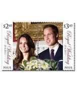 Royal Wedding Kate William split STAMP set NIUE MNH - ₹1,182.78 INR