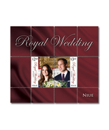 Royal Wedding Kate William split error MNH souvenir s - €26,83 EUR