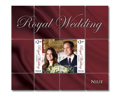 Royal Wedding Kate William split error MNH souvenir s