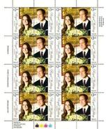 FULL SHEET Royal Wedding William & Kate error 16 Stamps - $112.13