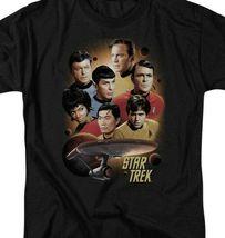 Star Trek Retro 60's Sci-Fi Original Crew Kirk & Spock graphic t-shirt CBS719 image 3