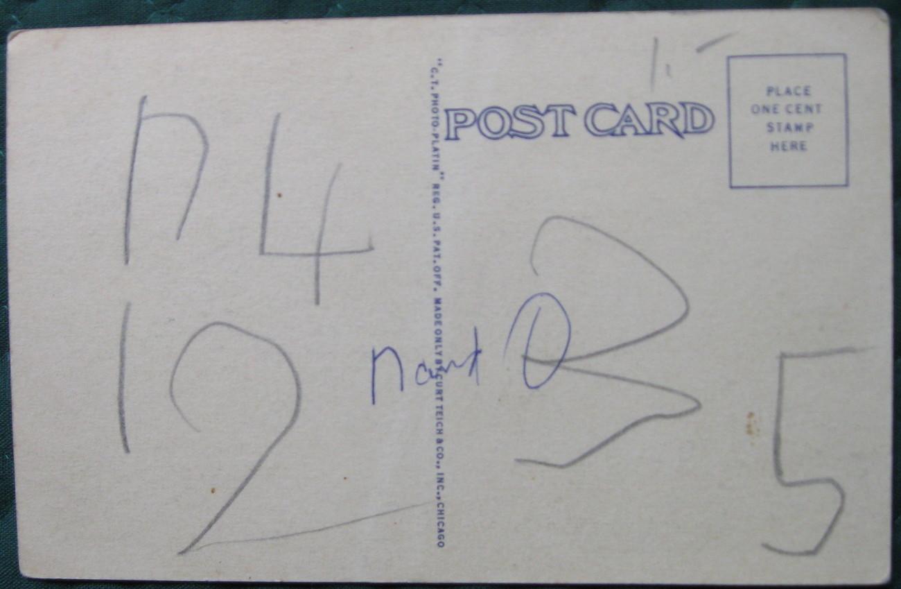 Curt Teich, Photo-Platin, White Border postcard, Howard Univ