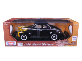 "1940 Ford Deluxe Black with Yellow Flames ""Timeless Classics\"" 1/18 Die... - $55.42"