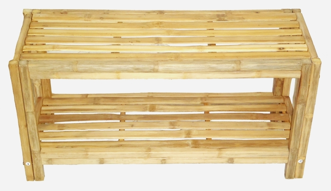 Primary image for Bamboo Shoe Rack/Shelf- 2 Tier Super Tough and Eco-Friendly