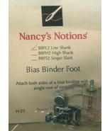 Nancys Notions Bias Binder Foot - $10.36