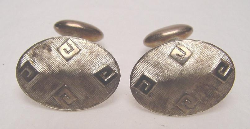 ANTIQUE STERLING CUFF LINKS