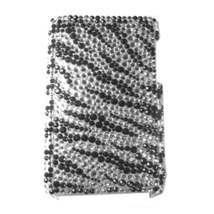 BLING BLK ZEBRA SHELL COVER CASE for iPod Touch 3G 3rd - $9.99