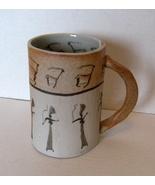 Art Pottery: Cave Art Inspired Stoneware Mug - $21.99