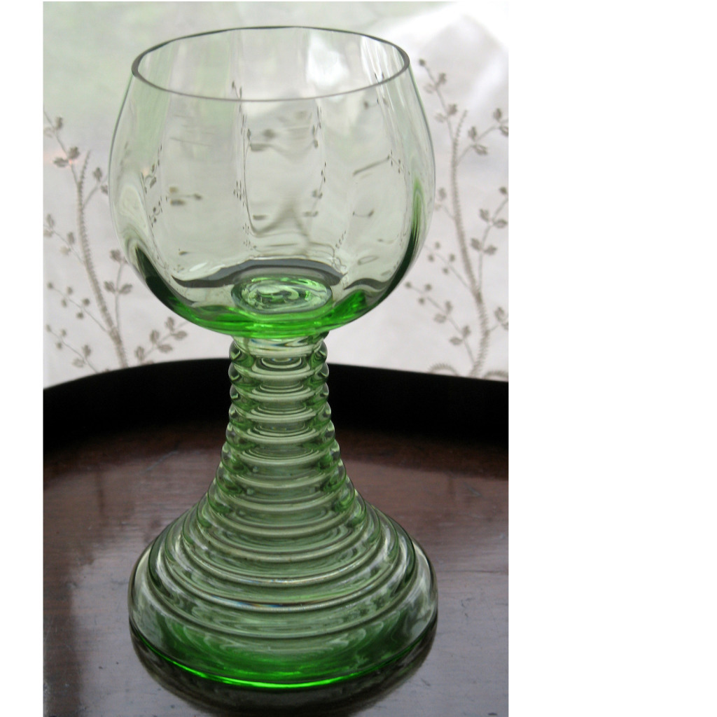 vintage an unusual and fine large art deco glass goblet signed other british art glass. Black Bedroom Furniture Sets. Home Design Ideas