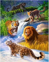 "Winter Animals 16X20"" Paint By Number Kit DIY Acrylic Painting on Canvas... - $8.90"