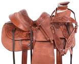 Used Vintage Western Wade Roping Saddle 18 Rough Out Leather Cowboy Saddle