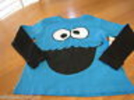 Boy's Sesame Street cookie monster T shirt youth NEW longsleeve large L LG - $7.47
