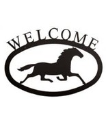 Small Running Horse Welcome Village Wrought Iron - $18.89