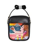Girls Sling Bag Art Painting Mermaid 48 dolphin - $24.99