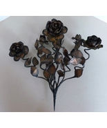 Antique Italian Gilt Metal Decorative Bouquet of Roses Hand made circa 1880's - $325.00