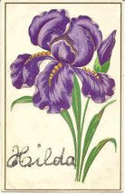 A Flower For Hilda Vintage Post Card - $5.00
