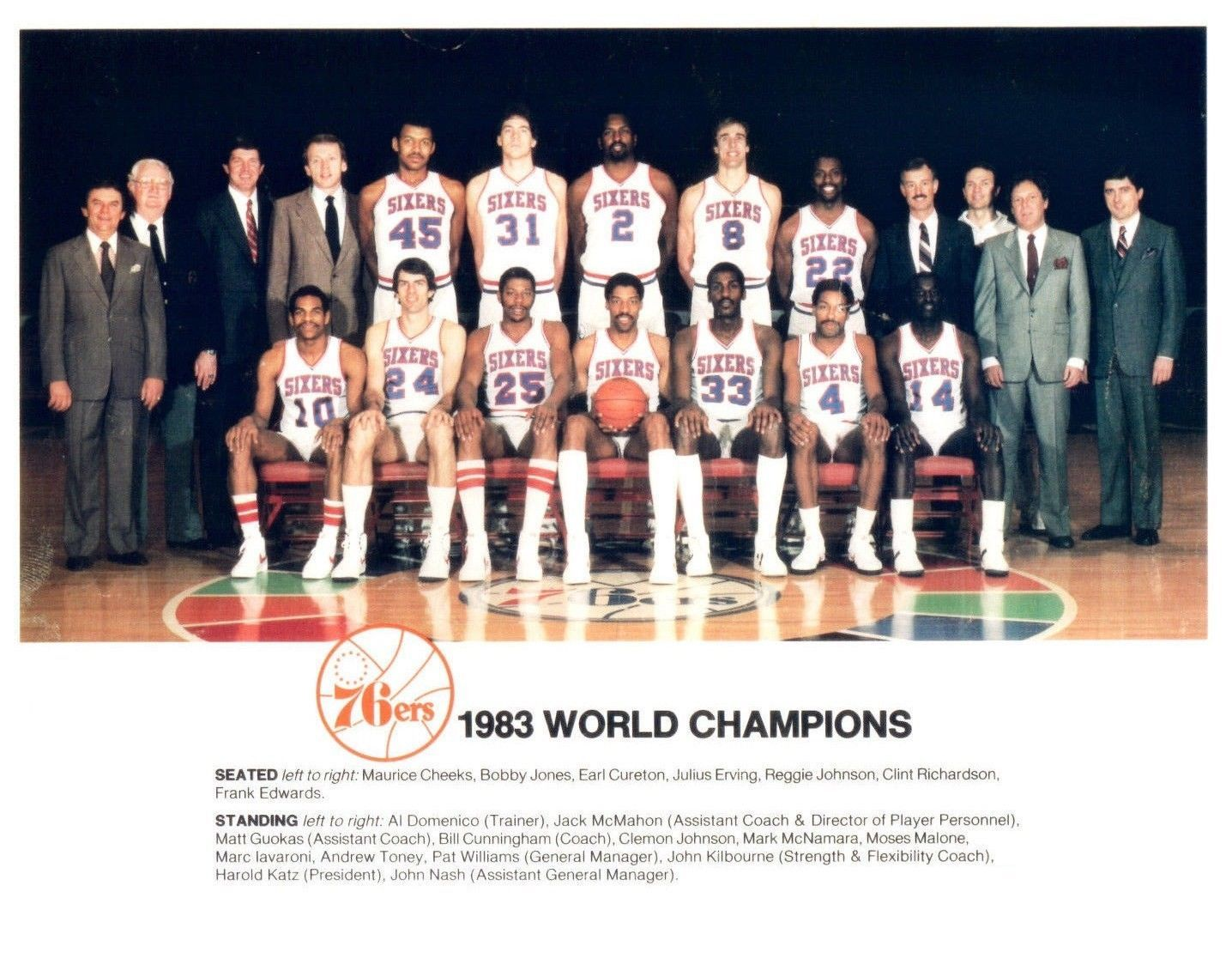 Primary image for 1983 PHILADELPHIA 76ers team 8X10 PHOTO BASKETBALL NBA SEVENTY SIXERS CHAMPS
