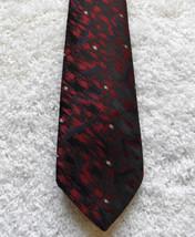 ALLYN ST. GEORGE  MEN'S NECK TIE, RED/BLACK - $4.70