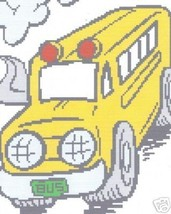 School Bus Crochet Graph Afghan Pattern - $5.00