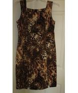 Sleeveless Dress Leopard Print Size 6 - $25.99