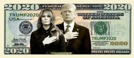 Pack of 25 - Trump 2020 Presidential Collectible Dollar Bills First Couple - $9.85