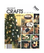 McCall's 2687 Folk Christmas Ornaments Tree Skirt Package Pattern - $14.99