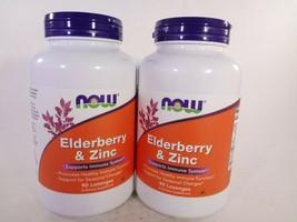 NOW Elderberry & Zinc Supports Immune System 90 Lozenges 2 PACK (180) [VS-N] - $28.05