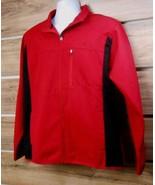 New Embroidered FILA Red & Black Full Zip Zipper Driving Jacket Men's La... - $15.10
