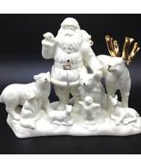 Mikasa Papá Noel Animal Escena Porcelana Pieza Central Estatuilla de Ado... - $19.39
