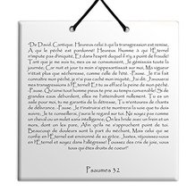 TEHILLIM Ceramic wall hanging French Psalms chapter 32 - $17.79