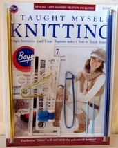 Boye I Taught Myself Knitting Kit 2011 book DVD tools needles projects H28 - $17.77