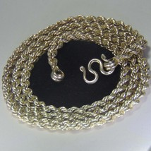 Heavy look pure silver rope chain necklace  - $143.00