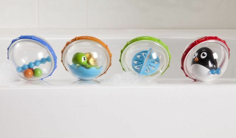 Baby Animals Bathing Rattle Spin Bubbles Development Bath Toys Water Float NEW - $27.29