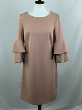 Jax Black Label Dress Womens 8 Pink Ruffle 3/4 Sleeve Cocktail NWT B27-04 - $24.13