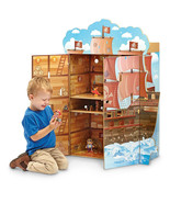 Teamson Kids Pirate Boat Play House with Figurines - $51.43