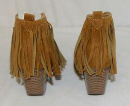 Beast Fashion Carrie 01 Camel Fringe Slip On Shoes Size Seven image 4