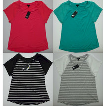 West Kei Womens Short Sleeve Top with Sheer Sleeves Choose Size & Color - $9.99