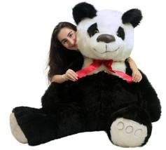 American Made Giant Stuffed Panda Bear 60 Inch Soft 5 Foot Teddybear White Chest - $127.11