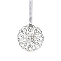 Wedgwood Silver Filigree Snowflake Ornament NEW IN THE BOX - $44.54