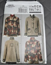 Pattern Vogue Wearable Art Jacket March Tilton V8676 Uncut Factory Folded - $14.35